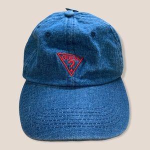 NWT GUESS x Denim x Triangle Strap Back Dad Hat